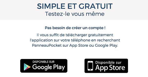 Télécharger gratuitement l'application Panneau Pocket sur votre téléphone. Disponible  AppStore ou Google Play
